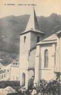 Cauterets (Hautes-Pyrénées) L'Eglise - Publicité S. Semtob, Bordeaux - Carte N° 73 Non Circulée - Cauterets