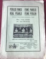 (101) Partituur - Partition - Perles Fines - Louis Logist - Jean Deveydt - 4p. - Partitions Musicales Anciennes