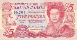 BILLET FALKLAND ISLANDS De 5 POUNDS - Reine Elisabeth II - Manchot Empereur - 14 Juin 2005 - NEUF ** - Falkland Islands