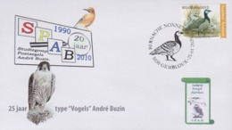 "FDC SPAB Met Zegel ""Brandgans"" En Stempel Voorverkoop Gembloux - 1985-.. Oiseaux (Buzin)"