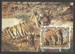 Equatorial Guinea 1976 Year , Used Block  Animals - Guinée Equatoriale