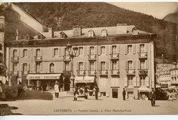 1921. CPA 65 CAUTERETS. PENSION CAZAUX 2 PLACE MARECHAL FOCH - Cauterets