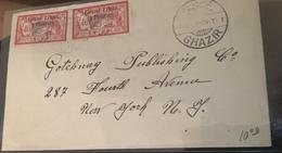 See Photos. Lebanon 1925 Cover Franked 2 Piastres Bilingual Sent To New York. - Liban