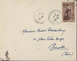 YT 447 Aux Marins Perdus En Mer Seul Sur Lettre CAD Camp De La Courtine Creuse 8 8 39 Militaria - Poststempel (Briefe)