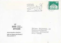 """Motiv Brief  """"Le Sous Officier Romand Et Tessinois, La Chaux-de-Fonds""""      1976 - Switzerland"""