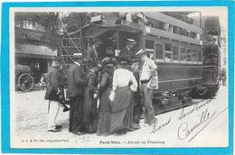 PARIS VECU - Attente Au Tramway - Francia