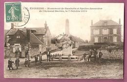 Cpa Epineuse Monument Gambetta Et Spuller Descendus De L'Armand Barbes 7 Octobre 1870 - Autres Communes