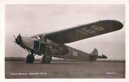 Paris Geneve - Fokker VII  Q 822 - 1914-1918: 1ère Guerre