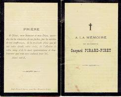 Faire-part Décès RYS-DE-MOSBEUX 1836-1895 - Gaspard PIRARD Fabricant D'armes-Vice-Président Syndicat Fabricants Canons - Avvisi Di Necrologio