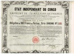 Titre Ancien - Etat Indépendant Du Congo - Emprunt De 150 Millions De Francs - Obligation De 100 Francs - Titre De 1888 - Afrique