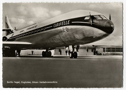 Flugzeug, Flughafen, Berlin Tegel, Air France, Caravelle - 1946-....: Modern Tijdperk