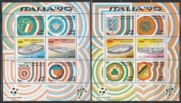 ITALIE - COUPE MONDE FOOTBALL 90 - Les 6 BLOCS N° 4 à 9** - 1990 – Italien