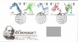 GREAT BRITAIN 1991 150th Anniversary Of Dinosaurs' Identification: First Day Cover CANCELLED - 1991-2000 Dezimalausgaben