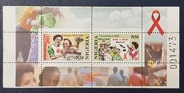 NIGERIA 2003 SHEET BLOC BLOCK - AIDS SIDA -  RARE MNH - Nigeria (1961-...)