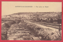 CPA-76-SOTTEVILLE-Lès-ROUEN - Vue Prise Au Dépôt SNCF - Jardins  *2 SCANS - Sotteville Les Rouen