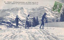 Gstaad - Windspielenskibahn Mit Blick Nach S.O. Wildhorn Und Lauenenniesenhorn Skifahrer - BE Berne