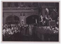 """DT- Reich (002286) Propaganda Sammelbild """"Adolf Hitler"""" Bild 96, In Der Berliner Philharmonie. Der Führer Bei Einem - Briefe U. Dokumente"""