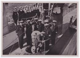 """DT- Reich (002289) Propaganda Sammelbild """"Adolf Hitler"""" Bild 159,Der Führer Besichtigt Im August 1935 In Kiel Die Ersten - Briefe U. Dokumente"""