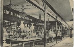 D 57  CRISTALLERIES De St LOUIS   Exposition De NANCY  1909    Chocolat Lorrain G. BOUVIER Nancy - France