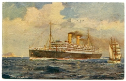R.M.S, ORVIETO - TUCK'S OILETTE / ORIENT LINE CARD / ADDRESS - SOUTHWICK, PARK LANE, INGLETON HOUSE - Steamers