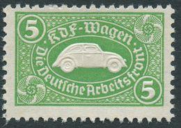 DT.REICH 1941, 5 MARK SPARMARKE, GRÜN FÜR KDF-WAGEN, UR-VW-KÄFER, POSTFRISCH - Allemagne