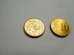 Piéce 10 Centimes Euro , Espagne , Espana , 2001 - Spain