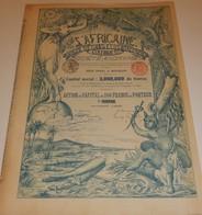 Titre Ancien - L'Africaine - Banque D'Etudes Et D'Entreprises Coloniales - Titre De 1898 - DECO - Rare VF-*** - Afrique