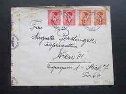 Jugoslawien 1940 Ljubljana - Wien OKW Mehrfachzensur Rückseitig Vignette XX. Velesejem V Ljubljana 1.10. Junija - 1931-1941 Kingdom Of Yugoslavia