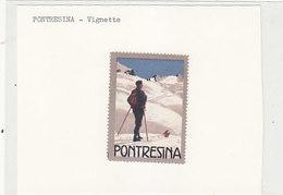 Pontresina - Werbevignette (keine AK) - Signiert       (P-212-90502) - GR Grisons