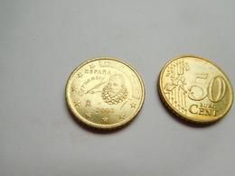 Piéce 50 Centimes Euro , Espagne , Espana , 2002 - Spain