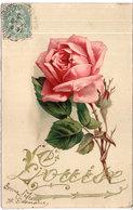 LOUISE - Fantaisie Gaufrée Rehaussée Or- Rose    (2720 ASO) - Firstnames