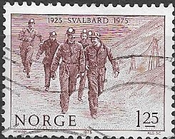 NORWAY 1975 50th Anniversary Of Norwegian Administration Of Spitzbergen - 1k.25, Miners Leaving Pit FU - Used Stamps