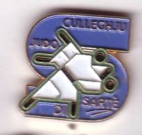 C64 Pin's Judo CULLEGHJU Di Sarté Culleghju Letizia Bonaparte Aiacciu Collège Laetitia Bonaparte Ajaccio Corse Achat Fix - Judo
