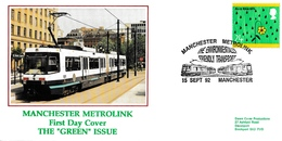 GREAT BRITAIN 1992 Manchester Metrolink: Commemorative Cover CANCELLED - 1952-.... (Elizabeth II)