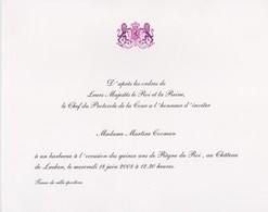 Invitation D'après Les Ordres De Leurs Majéstés Le Roi Et La Reine De Belgique. - Other