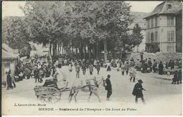 LOZERE : Mende, Boulevard De L'Hospice, Un Jour De Foire - Mende