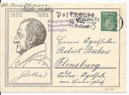 Dt.- Reich (002373) Ganzsache P213, Goethe, Gelaufen Köln Am 8.6.1932 Mit Postwerbestempel - Deutschland