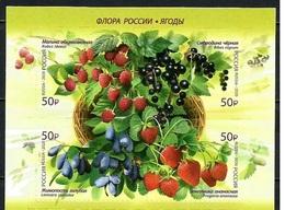Russia.2020.Russian Flora. Berries.4 V.** . - Ungebraucht