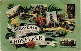 Honfleur (14) - Quelques Petites Vues (Circulé En 1925) - Honfleur