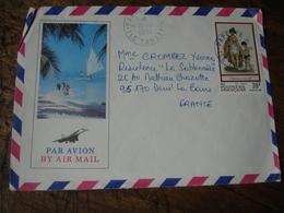 Lot De 4 Lettre Polynesie Francaise 3 Lettre 1 Entier Postal - Polynésie Française