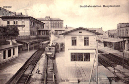 WIEN : STADTBAHNSTATION HAUPTZOLLAMT - GARE / TRAIN STATION / METRO ? - ANNÉE / YEAR ~ 1905 - '909 - RRR !!! (ad758) - Sonstige