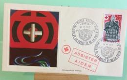 Europa CEPT Croix Rouge, Maison De La Poste -Musée- 28.11.1977 -FDC 1er Jour (Tampon Sèche Au Dos) - FDC