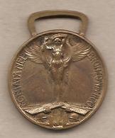 """Italia - Medaglia Della Prima Guerra Mondiale 1915-1918 """"Coniata Nel Bronzo Nemico"""" Per L'Unità D'Italia - Italia"""