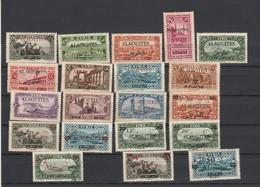 Alaouites Lot Collection 20 Timbres  ( 19 Neufs + 1 Oblité ( 42 ) Avec Défauts Et Tache Rouille  - 2 Scan - Alaouite (1923-1930)