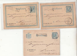 Pays Bas   Entiers Postaux  1877 Vers La Ville De Leuze   Belgique  2 Scan - Entiers Postaux