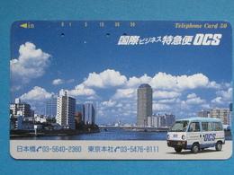 JAPAN PHONECARD NTT 110-114537 TELECA LANDSCAPE CITY VAN OCS - Giappone
