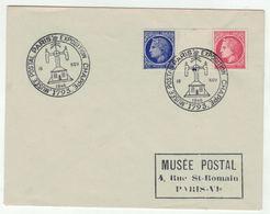 France // 1945-1949 // Lettre De L'Exposition Chappe - Storia Postale