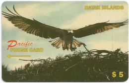 Ratak Islands - (Marshall) Oceania - Pacific, Flying Eagle, 08.1998, 5$, 2.000ex, Fake! - Schede Telefoniche