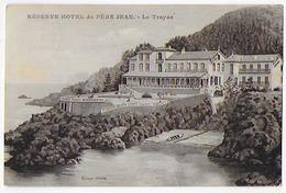 Cpa Bon Etat , St-raphael , Le Trayas ,  Réserve Hôtel Du Père Jean , Timbre Surchargé Semeuse 25 C , Courrier - Saint-Raphaël