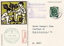 "Ballonpost, Ballon "" Zürich "" 1.11.1953. I.V.K.B.P. Schlieren - Zürich. - Autres Documents"